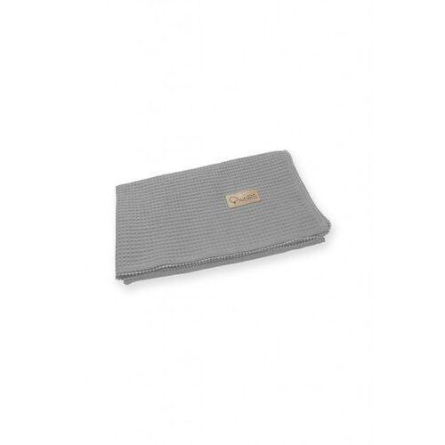 Bawełniany kocyk wafel szary 5o40hp marki Albero mio