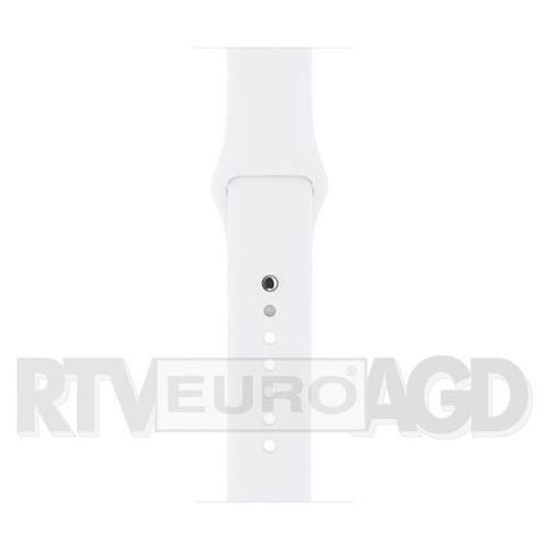 OKAZJA - pasek sportowy apple watch 42mm (biały) - produkt w magazynie - szybka wysyłka! marki Apple