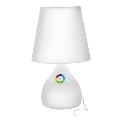 Stojąca lampka biurkowa diffi 306159 abażurowa lampka nocna led 4,8w z podstawą zmieniającą kolor biała marki Polux