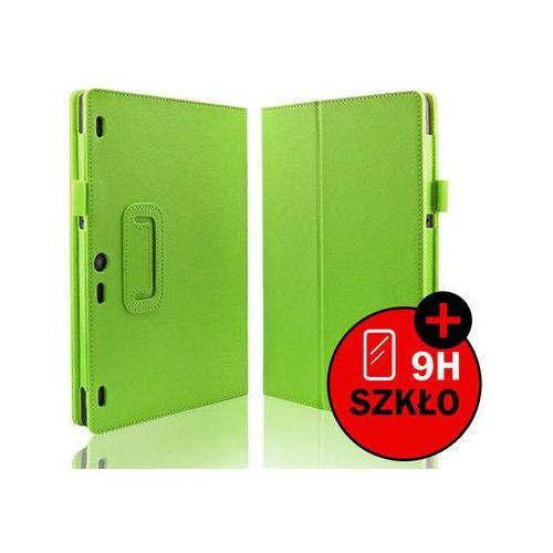 4kom.pl Zielone etui typu stand cover lenovo tab 2 a10-30 + szkło hartowane - zielony