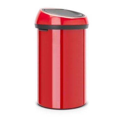 Brabantia - Kosz 'Touch Bin' - pokrywa plastikowa - 60L - czerwony - czerwony