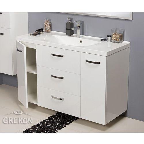 Biała szafka łazienkowa z umywalką 120/48/C Jona Gante