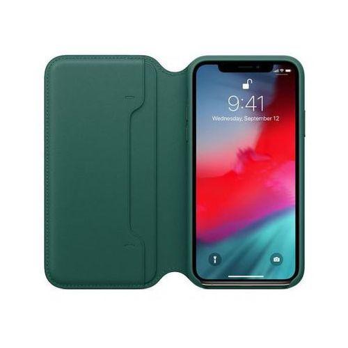 Apple leather folio do iphone xs, forest green >> bogata oferta - szybka wysyłka - promocje - darmowy transport od 99 zł!