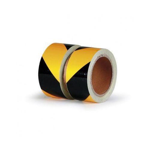 B2b partner Taśma ostrzegawcza samoprzylepna z aluminiową warstwą - lewa, kategoria: taśmy ostrzegawcze
