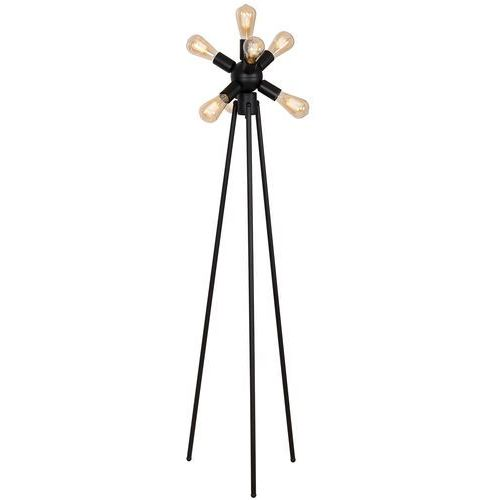 Luminex brenda 841 lampa podłogowa stojąca 7x60w e27 czarny (5907812628413)