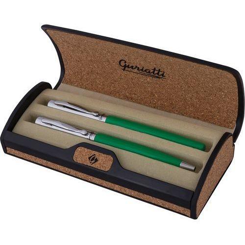 Easy stationery Komplet długopis z piórem zielony gianna 839157 - spokey