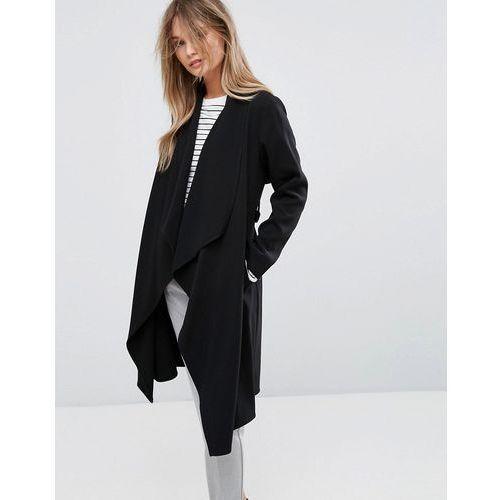 New look  waterfall duster coat - black