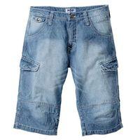"""Długie bermudy dżinsowe loose fit średni niebieski """"used, Bonprix"""