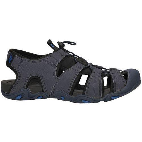Męskie sandały trekkingowe SAM003 4F - Granatowy, kolor niebieski
