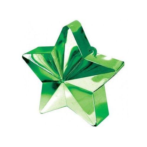 Obciążnik ciężarek do balonów napełnionych helem - Gwiazda zielona - 170 g.