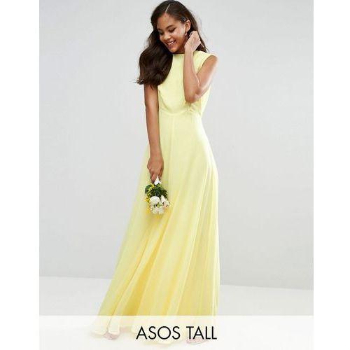 wedding maxi dress - yellow marki Asos tall
