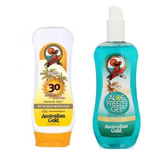 Australian gold spf 30 lotion and aloe freeze spray gel   zestaw do opalania: balsam do opalania 237ml + chłodzący spray po opalaniu 237ml