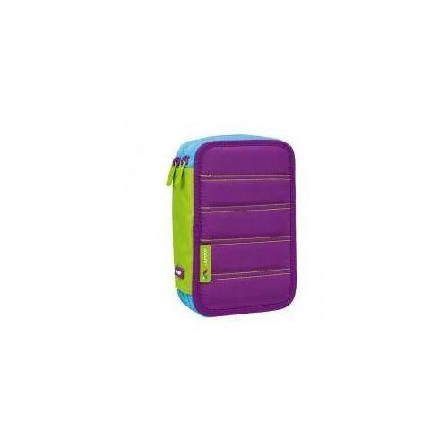 Piórnik 2 poz. z wyprawką Colours fiolet MILAN (8411574075370)