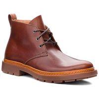 Trzewiki CLARKS - Trace Flare 261282767 Mahogany Leather, kolor brązowy