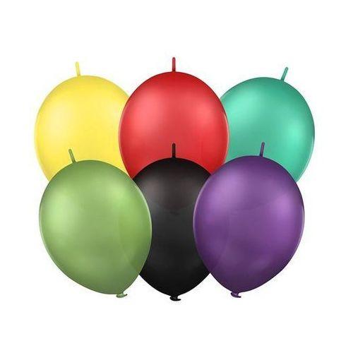 Party deco Balony lateksowe gładkie z łącznikiem 12 cali - mix - 25 szt.