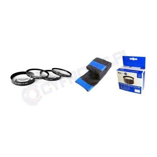 FoxFoto Zestaw soczewek makro +1, +2, +4, +10 dioptrii 55mm (2000605004012)