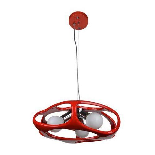 Lampa wisząca Amano czerwona Lampex 324/3 CZE, 324/3 CZE