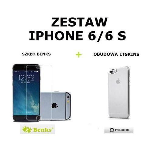 Benks Szkło ochronne  okr + 0,3 mm + obudowa itskins h2o przezroczysta apple iphone 6 / 6s