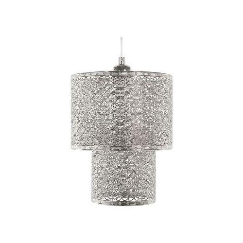 Beliani Lampa wisząca metalowa srebrna osun (4260624111155)