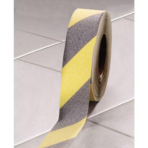 Coba plastics Taśma antypoślizgowa, samoprzylepna, szer. 50 mm, czarny/żółta, rolka, od 3 szt.