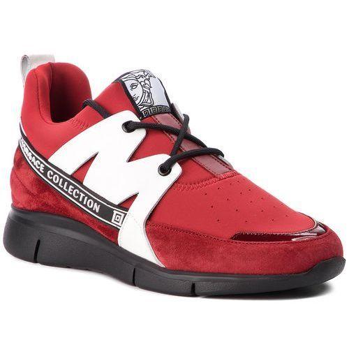 Sneakersy VERSACE COLLECTION - V900724 VM00420 VA06 Bordeaux/Bordeaux/Ross