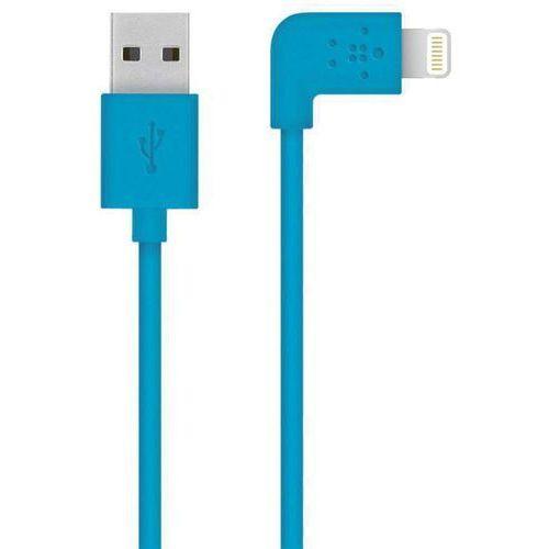 Kabel do ipad/iphone/ipod  f8j147bt04-blu, [1x złącze męskie usb 2.0 a - 1x złącze męskie apple dock lightning], złącze kątowe, 1.20 m marki Belkin