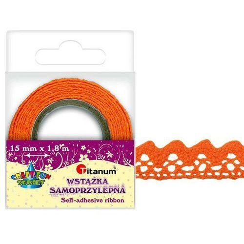 Koronka samoprzylepna taśma pomarańczowa 15mm 1,8m - pomarańczowy