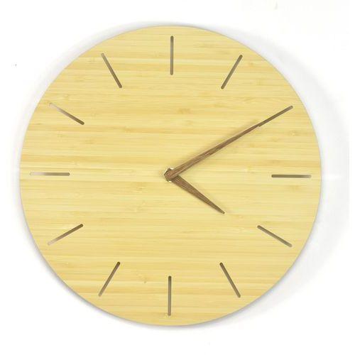Woodway clock - simplis - zegar ścienny bambus marki Woodwaycrafts