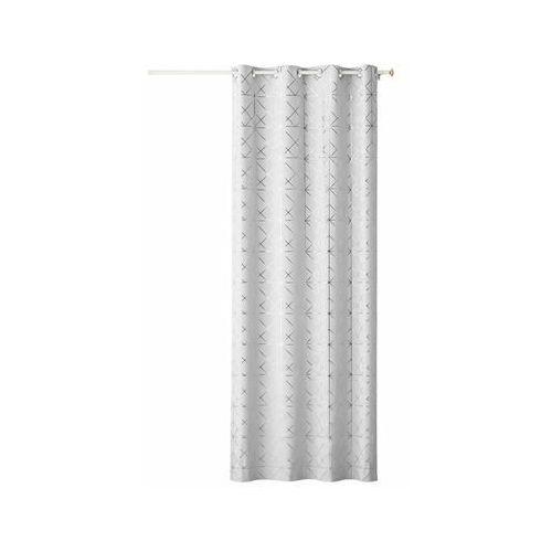 Zasłona GLAMMY biała 140 x 250 cm na przelotkach (5902963472205)