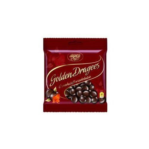 Draże golden dragees toffi w czekoladzie 100 g  marki Skawa