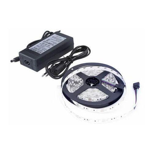 Zestaw taśma LED+zasilacz 12V 24W DC2835 300LED/5m IP65 biała ciepła D87-ZW-2835-300-IP65-AWW, kolor biały