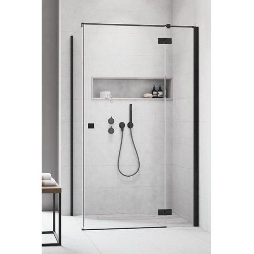 Kabina Radaway Essenza New Black KDJ drzwi prawe 80 cm x ścianka 120 cm, szkło przejrzyste wys. 200 cm, 385043-54-01R/384054-54-01