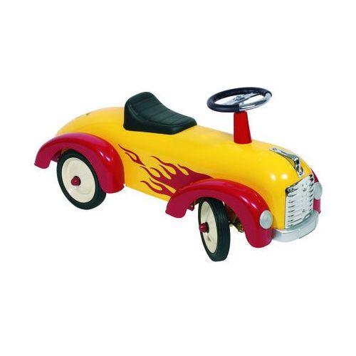 Goki Auto do odpychania nóżkami żółta wyścigówka
