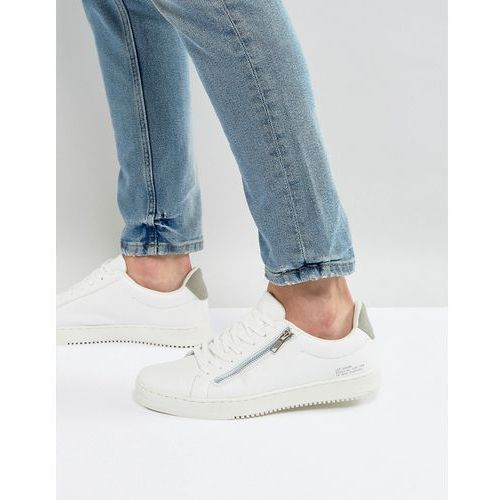 trainers with zip detail in white - white marki River island