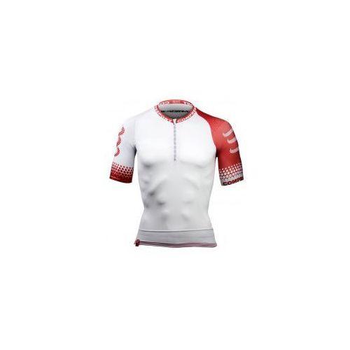 Koszulka biegowa COMPRESSPORT - Trail Shirt WHITE