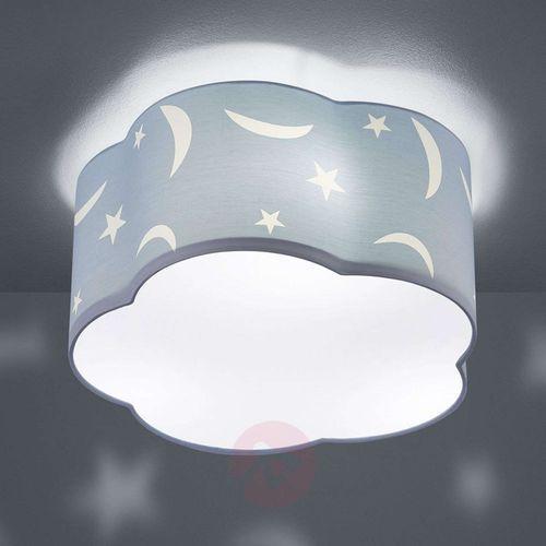 Lampa sufitowa moony, dziecięca, pastelowy błękit marki Trio leuchten
