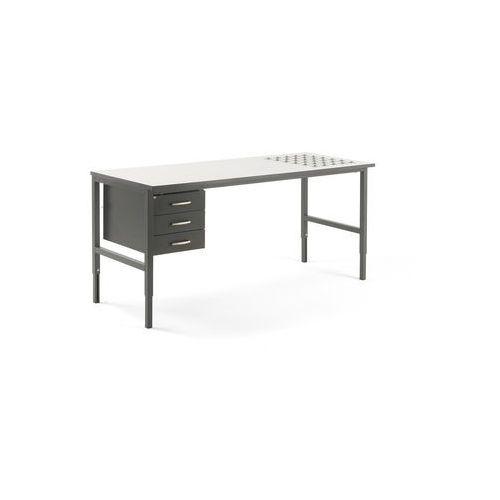 Stół roboczy CARGO, z podajnikiem kulowym, 2000x750 mm, 3 szuflady