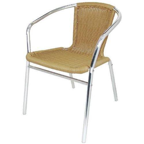 Krzesło wiklinowe z aluminium naturalne (4 sztuki) marki Bolero