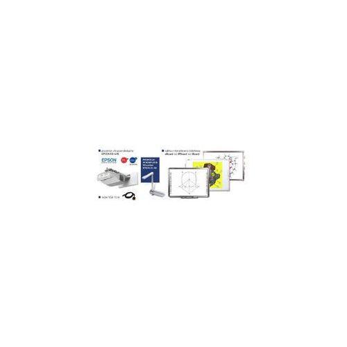 Idealny zestaw interaktywny IPBoard 85 DUAL + projektor ultrakrótkoogniskowy Epson EB-470 EDU+ uchwyt ścienny + kabel VGA 10m + wizualizer Epson ELP-DC06, 4627