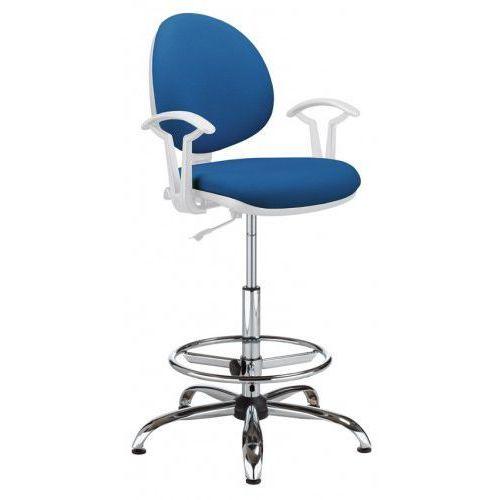 Krzesło specjalistyczne SMART white gtp27 steel04 + ring base chrome - obrotowe