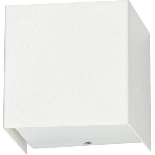 Kinkiet CUBE white 9cm sześcian 5266 biały Nowodvorski + RABAT w koszyku!!! - Biały, 5266