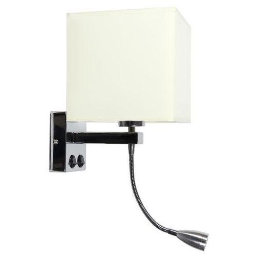 boho 21-58256 kinkiet lampa ścienna 1x40w e27 + led chrom / beż marki Candellux