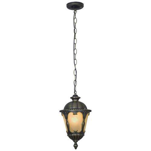 Nowodvorski Zewnętrzna lampa wisząca tybr 4684 tarasowa oprawa metalowy zwis na łańcuchu ip44 brązowa złota