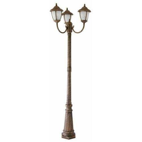 Lampa stojąca ogrodowa Rabalux Madrid 3x60W E27 IP43 antyczny złoty/biały 8379, 8379