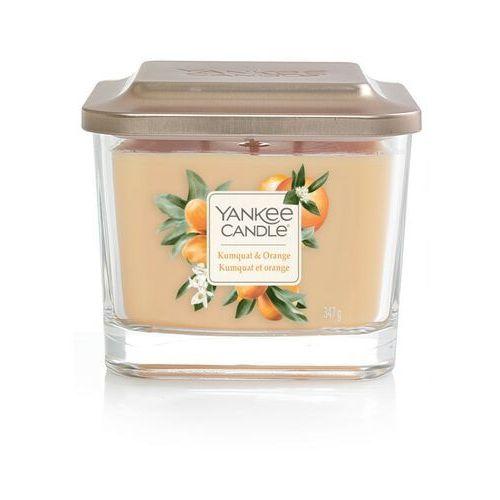 Średnia kwadratowa świeca z trzema knotami kumquat & orange marki Yankee candle