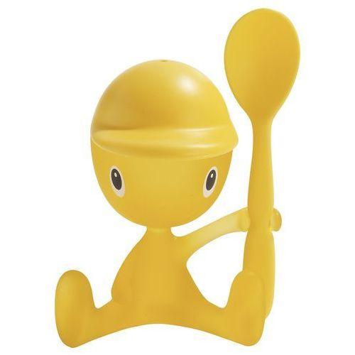 Jajecznik z łyżeczką ALESSI ASG23 Y Cico Żółty