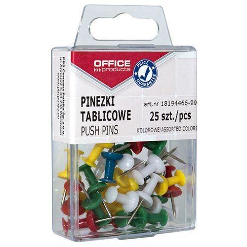 Office products Pinezki kolorowe beczułki , w pudełku, 25szt., mix kolorów (5901503666029)