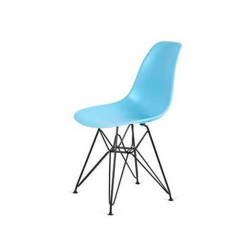 Krzesło plastikowe DSR BLACK oceaniczny niebieski.25 - podstawa metalowa czarna, kolor niebieski