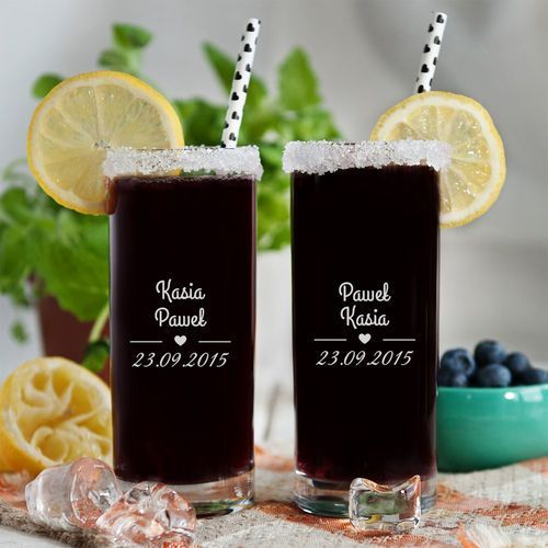 Nasza data - dwie grawerowane szklanki - szklanki marki Mygiftdna