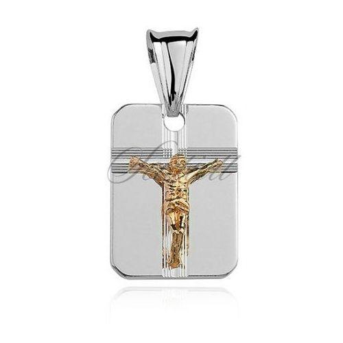 Srebrny diamentowany medalik pr.925 jezus na krzyżu pozłacany - gmd006g marki Sentiell